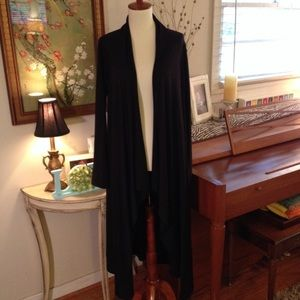 Long Knit Draped Lightweight Duster Cardigan